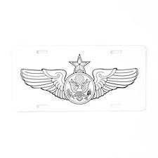 Cute Winged Aluminum License Plate