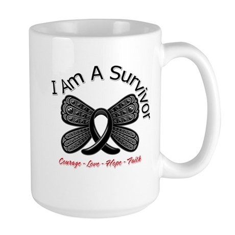 Melanoma I'm A Survivor Large Mug