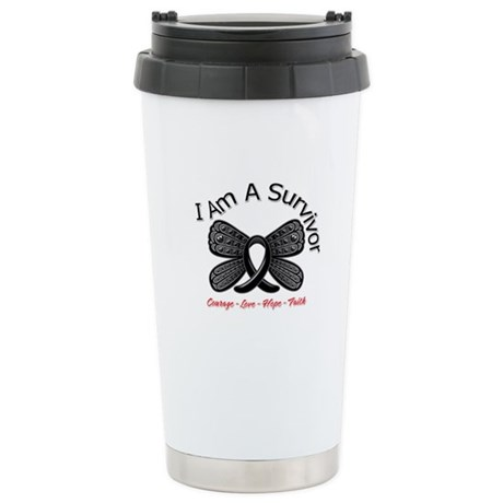 Melanoma I'm A Survivor Ceramic Travel Mug