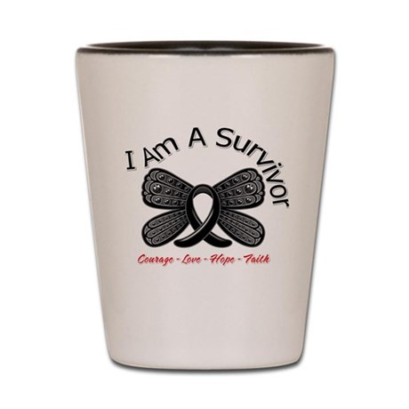 Melanoma I'm A Survivor Shot Glass
