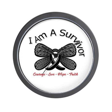 Melanoma I'm A Survivor Wall Clock
