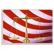 Scales of Justice American Flag