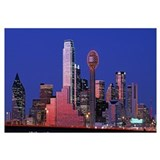 Texas, Dallas, Panoramic view of an urban skyline