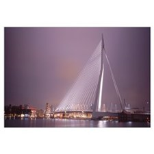 Netherlands, Holland, Rotterdam, Erasmus Bridge