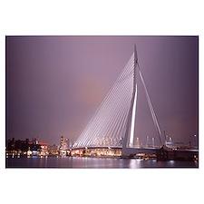 Netherlands, Holland, Rotterdam, Erasmus Bridge