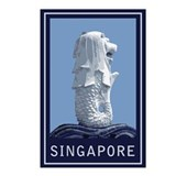 Singapore Merlion Postcards (Package of 8)