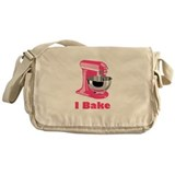 I Bake Pink Messenger Bag