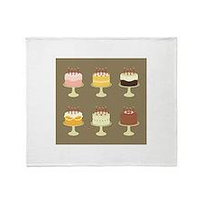Cake Card Throw Blanket