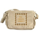 ice cream addict Messenger Bag