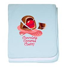Chocolate Covered Cherry baby blanket