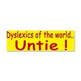 Dyslexics of the World Car Magnet 10 x 3