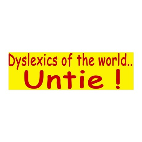 Dyslexics of the World 21x7 Wall Peel
