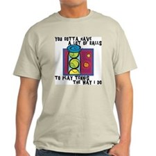 Funny Tennis Ash Grey T-Shirt