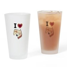I Love PB&J Drinking Glass