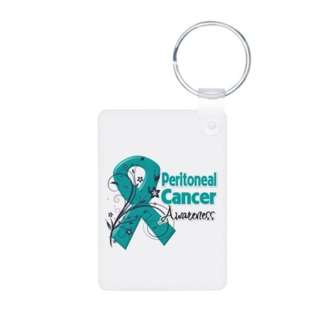 Peritoneal Cancer Aluminum Photo Keychain