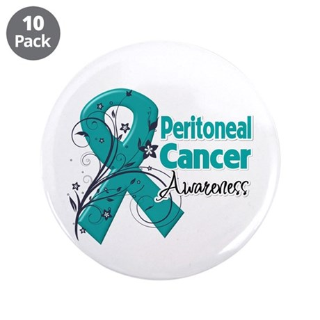 "Peritoneal Cancer 3.5"" Button (10 pack)"