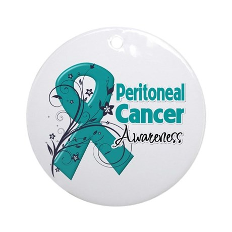 Peritoneal Cancer Ornament (Round)