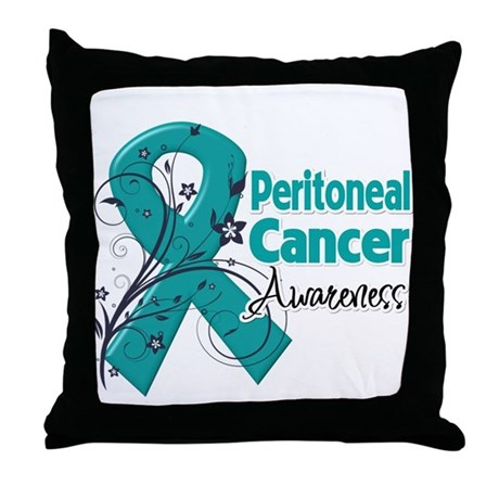 Peritoneal Cancer Throw Pillow