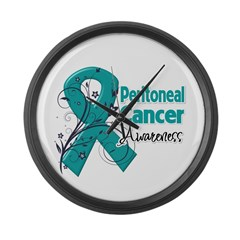 Peritoneal Cancer Large Wall Clock