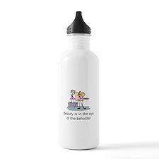 Funny Stick figure art Water Bottle