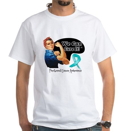 Cure Peritoneal Cancer White T-Shirt