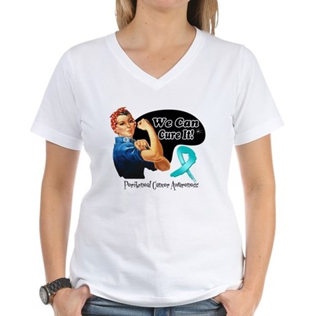 Cure Peritoneal Cancer Women's V-Neck T-Shirt