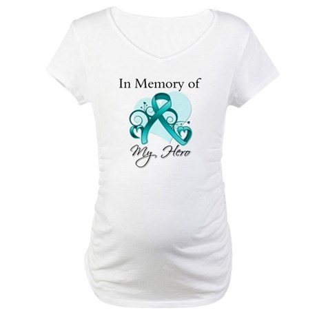 In Memory Peritoneal Cancer Maternity T-Shirt