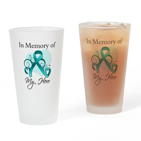 In Memory Peritoneal Cancer Drinking Glass