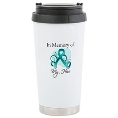 In Memory Peritoneal Cancer Ceramic Travel Mug