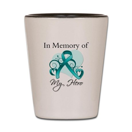 In Memory Peritoneal Cancer Shot Glass
