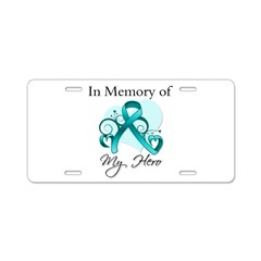In Memory Peritoneal Cancer Aluminum License Plate
