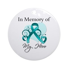 In Memory Peritoneal Cancer Ornament (Round)