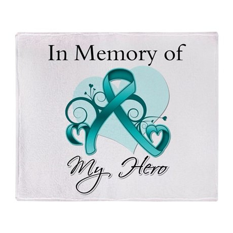 In Memory Peritoneal Cancer Throw Blanket