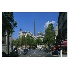 Avenue de Tourville and Eiffel Tower Paris France