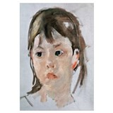 Head of a Young Girl (oil on canvas)