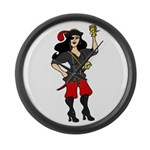 Pirate Queen Large Wall Clock