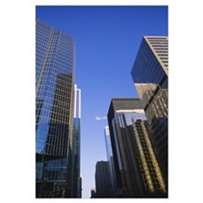 Low angle view of buildings in a city, Toronto, On