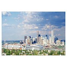 Colorado, Denver, Invesco Stadium, High angle view
