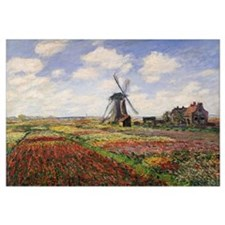 Tulip Fields with the Rijnsburg Windmill, 1886 (oi