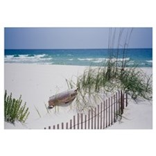 Fence on the beach, Alabama, Gulf of Mexico