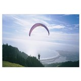 High angle view of a person parasailing, Marin Cou