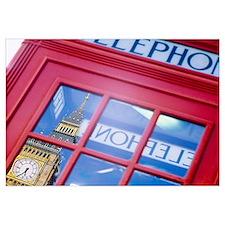 Telephone Booth Reflection of Big Ben London Engla