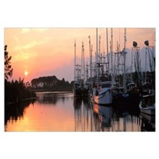 Sunset Shrimp Boats AL