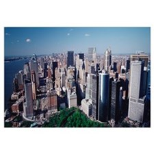 Aerial Lower Manhattan New York NY