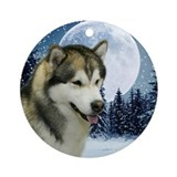 Winter Malamute Ornament