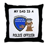 Police Dad Throw Pillow