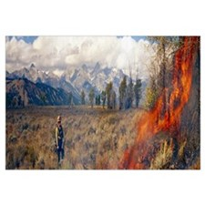 Prescribed Burn Grand Teton National Park WY