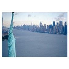 New York City with Statue of Liberty NY