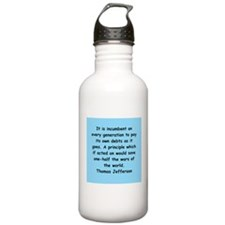 thomas jefferson Water Bottle