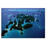 Aerial View of Rock Islands Palau